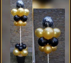 Ballon boom zwart / goud