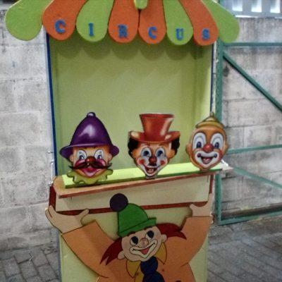 Clown kop gooi