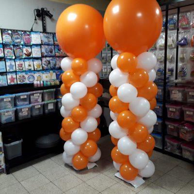 ballon pilaar oranje wit