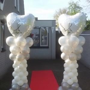 Bruiloft pilaar met hart