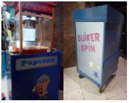 suiker spin met popcorn